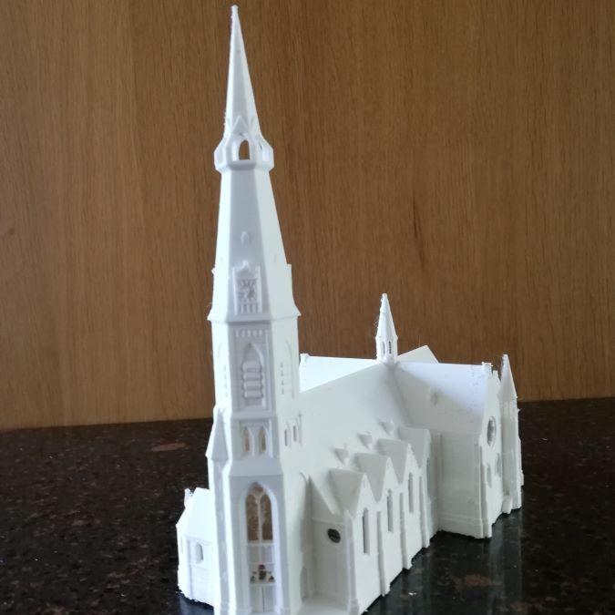 Miniatuur Urbanuskerk Amstelveen